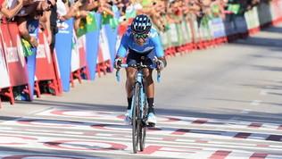 Ciclismo, Vuelta: guizzo Quintana, Fabio Aru rialza la testa e chiude 5°<br />