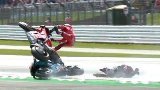 MotoGP, sollievo per Dovizioso: nessun danno fisico