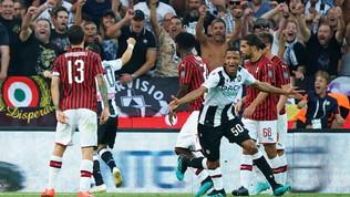 Udinese-Milan 1-0: le foto del match
