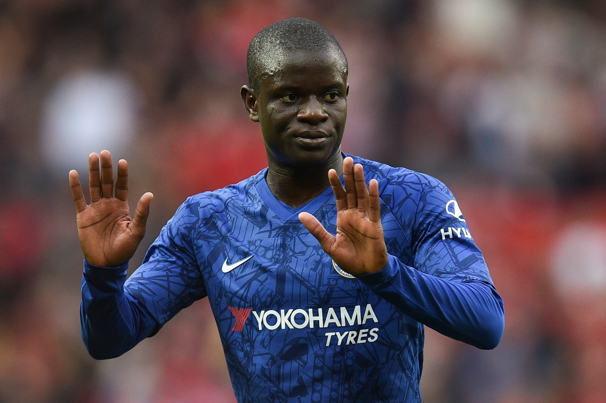 Ngolo Kante, centrocampista del Chelsea: caviglia slogata, rientro a fine agosto