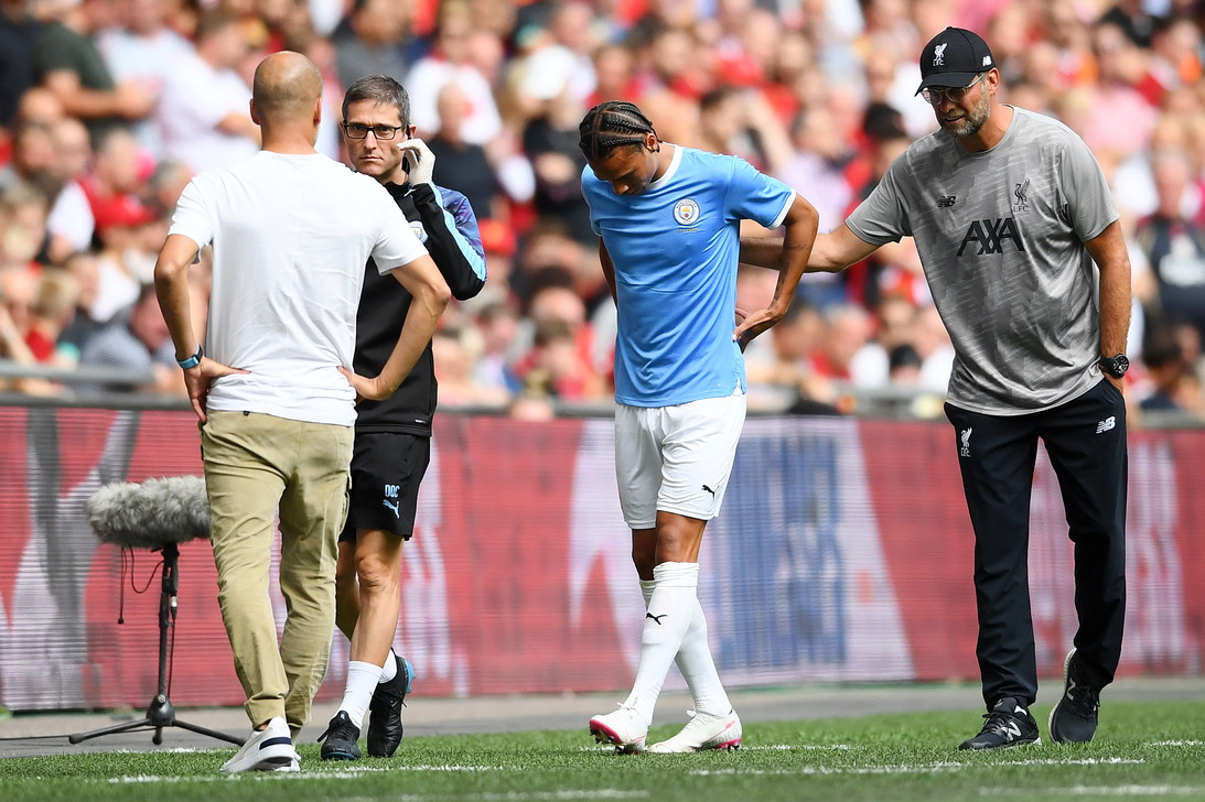 Leroy Sané, ala del Manchester City: rottura del crociato, rientro a febbraio