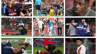 Suarez, Mbappé, Hazard, Sané: il calcio fa crack