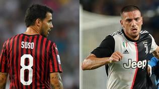 Milan-Juventus: ipotesi discambio Suso-Demiral