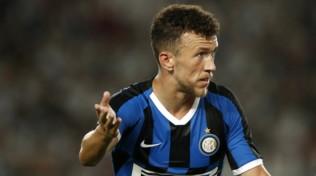 Inter, Perisic a San Siro: esulta per i gol di Brozovic e Sensi