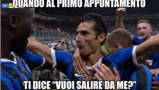 Inter, la faccia di Candreva dopo il gol è virale: il web si scatena