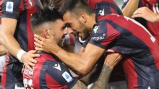 Serie A, Bologna-Spal 1-0, Soriano gol al 93', Mihajlovic fa festa
