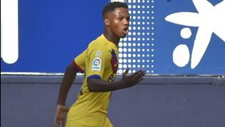 Liga, Osasuna-Barcellona 2-2, Fati gol nella storia ma Valverde si ferma ancora