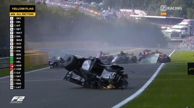 Incidente mortale durante la gara di Formula 2 a Spa:Anthoine Hubert, pilota francese 22enne, è morto dopo essere stato tamponato nel vel...