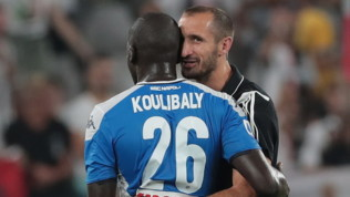 Juventus-Napoli, Chiellini in panchina con le stampelle