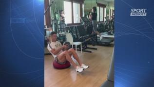 Ronaldo-Georgina, allenamento domenicale