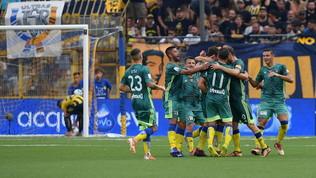Serie B: il Pisa piega la Juve Stabia, il Pescara ribalta il Pordenone, il Frosinone rovescia l'Ascoli