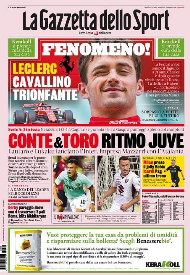 La rassegna stampa sportiva italiana e internazionale