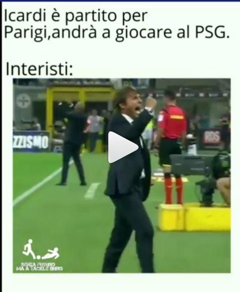 I tifosi interisti esultano sui social per la cessione dell'attaccante argentino.