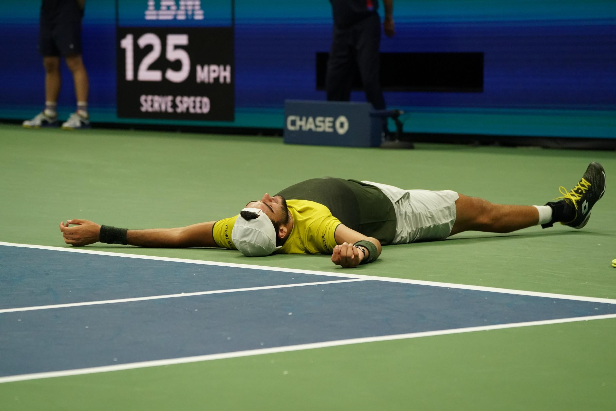 Matteo Berrettini in semifinale agli US Open: ecco tutte le immagini della sua gioia dopo aver battuto Gael Monfils