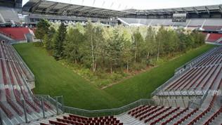 Wolfsberger-Roma a Graz: lo stadio di Klagenfurt è pieno di alberi