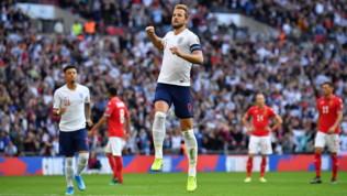 Qualificazioni Euro 2020: tripletta di Kane, l'Inghilterra vince 4-0