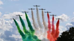 F1, Gp di Monza: show delle Frecce Tricolore