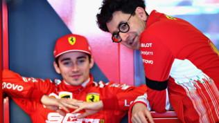 """Ferrari, Binotto a Leclerc: """"Oggi sei perdonato"""""""