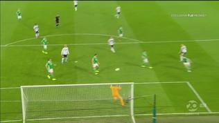 Irlanda del Nord-Germania 0-1: il gol di Halstenberg