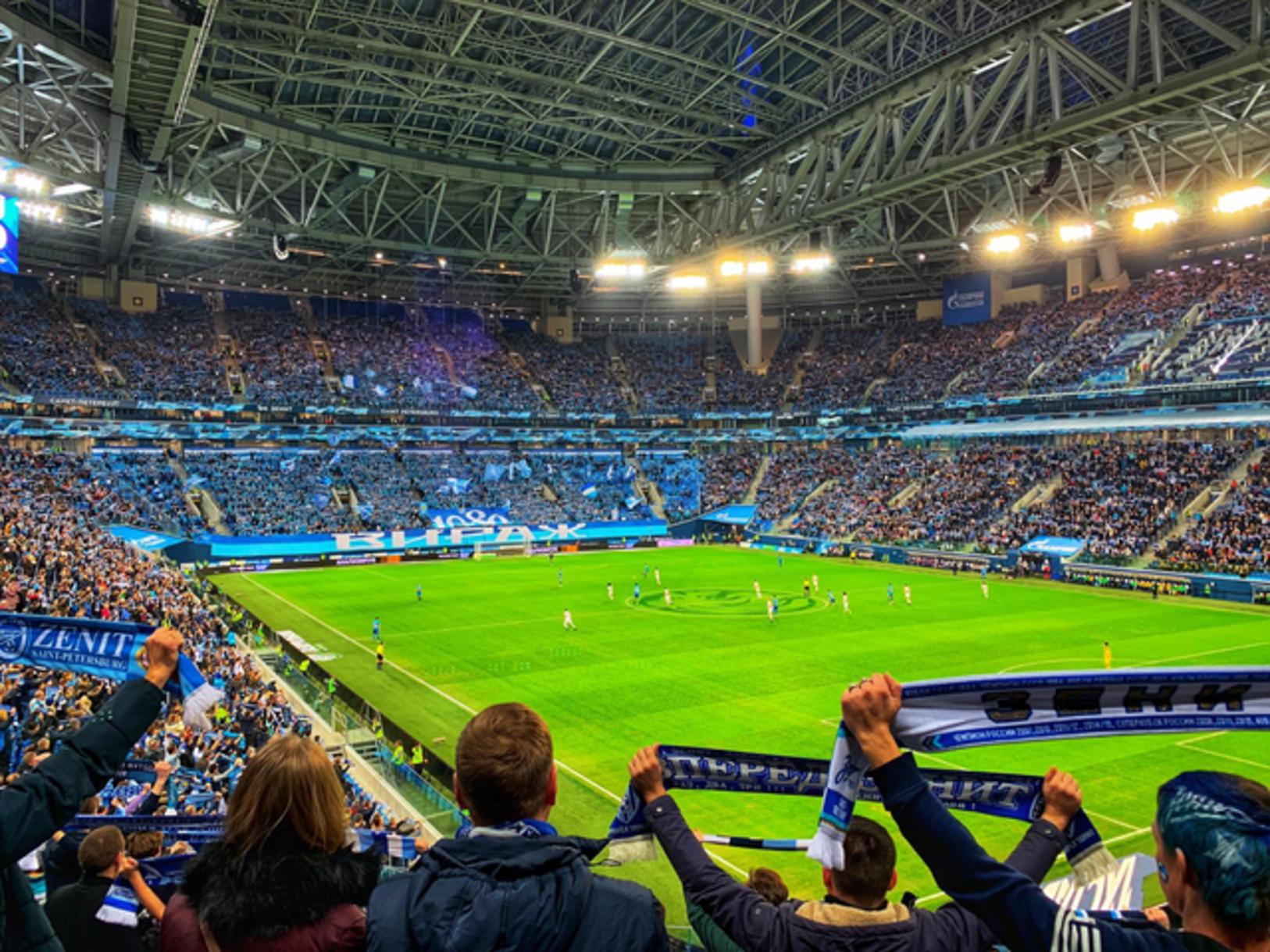 5. Gazprom Arena (Zenit), 53 pikë