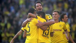Bundesliga: il Lipsia ferma il Bayern 1-1 e resta davanti a tutti, poker del Borussia Dortmund