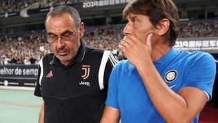 """Inter, Conte a Sarri: """"Stia sereno, ora sta con i forti"""""""