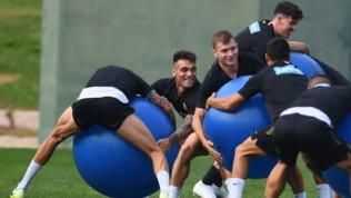 Inter, allenamento verso la Champions League