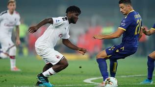 """Milan, """"buu"""" razzisti a Verona contro Kessie"""