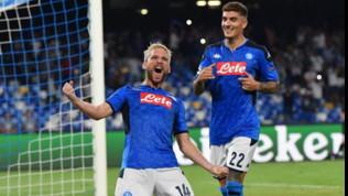 Champions League, Napoli-Liverpool 2-0: Mertense Llorente stendono i campioni d'Europa