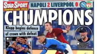 """""""Vedi Napoli e... perdi"""": i giornali inglesi scatenati dopo il ko del Liverpool"""