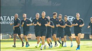 Roma, allenamento verso l'Europa League