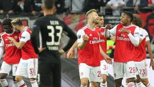 Europa League: l'Arsenal sbanca Francoforte, vincono Psv, Siviglia e Basilea, pari Rennes