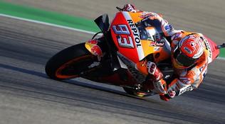 MotoGP Aragon, Marquezfa subito il vuoto nelle Libere 1