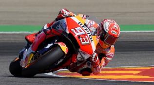 MotoGP Aragon: la pole position è di Marquez, deludono Rossi e Dovi