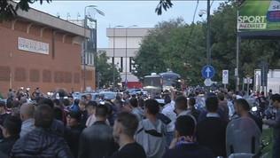 Derby, l'arrivo del Milan a San Siro