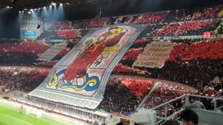 Milan-Inter, le coreografie dei tifosi