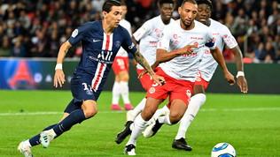 Ligue 1: il Psg cade 2-0 con il Reims, l'Angers lo raggiunge in testa alla classifica