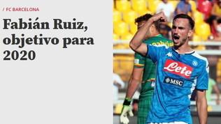 Napoli, il primo obiettivo del Barcellona ora è Fabian Ruiz