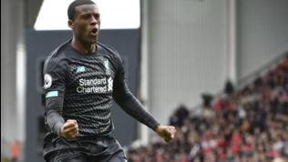 Premier League: Liverpool brutto ma efficace, Wijnaldum timbra la settima vittoria su 7 partite