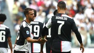 Serie A, Juventus-Spal 2-0: decidono Pjanic e Ronaldo