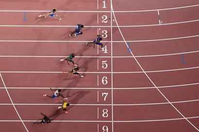 L'azzurro è settimo nella finale Mondiale dei 100 metri. Doppietta statunitense Coleman-Gatlin.