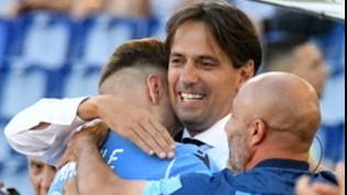 Lazio, abbraccio Inzaghi-Immobile