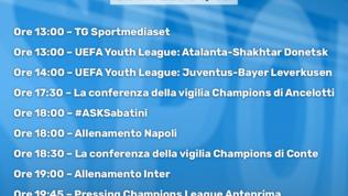 Dalla Youth League alla Champions: tutto in diretta streaming su Sportmediaset.it
