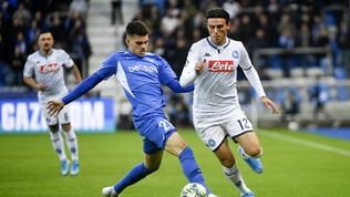 Champions League, Genk-Napoli 0-0: le foto del match