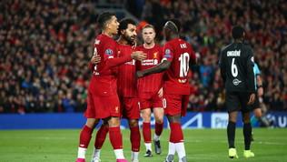 Champions League: 4-3 spettacolare in Liverpool-Salisburgo, l'Ajax passeggia a Valencia, ok Chelsea e Dortmund