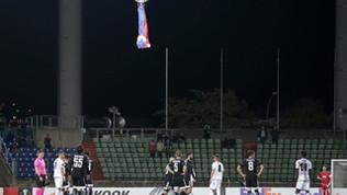 Un drone irrompe nello stadio: stop per Dudelange-Qarabag