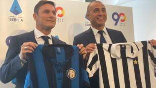 Zanetti e Trezeguet per i 90 anni della Serie A
