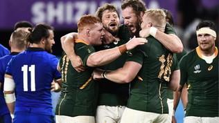 Rugby, Mondiali:Italia-Sudafrica dura solo un tempo, azzurri travolti