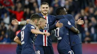 Ligue 1: Icardi a segno, il Psg domina l'Angers 4-0 e certifica il primato