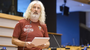 Bruxelles, eurodeputato irlandese in aula con la maglia del Torino